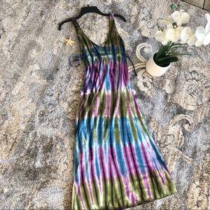 Lucky Brand tie dye Maxi dress/ coverup